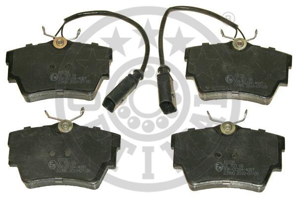 Kit de plaquettes de frein, frein à disque - OPTIMAL - 10338