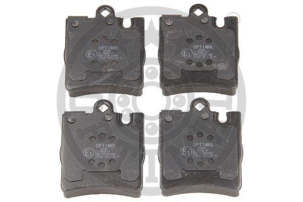 Kit de plaquettes de frein, frein à disque - OPTIMAL - 10340