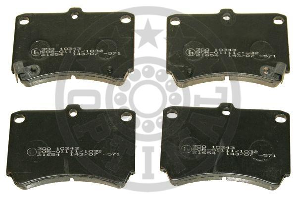 Kit de plaquettes de frein, frein à disque - OPTIMAL - 10343