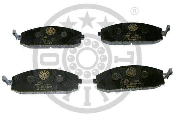 Kit de plaquettes de frein, frein à disque - OPTIMAL - 10346