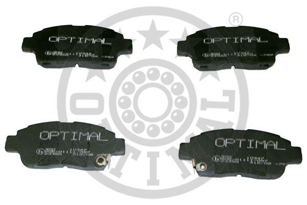 Kit de plaquettes de frein, frein à disque - OPTIMAL - 10347