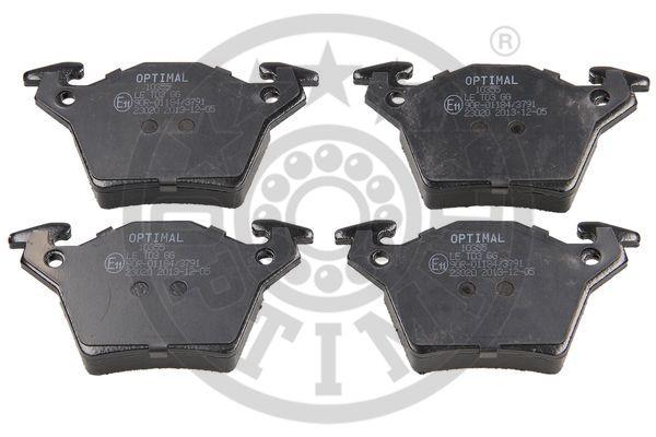 Kit de plaquettes de frein, frein à disque - OPTIMAL - 10355