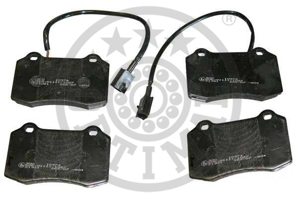 Kit de plaquettes de frein, frein à disque - OPTIMAL - 10374