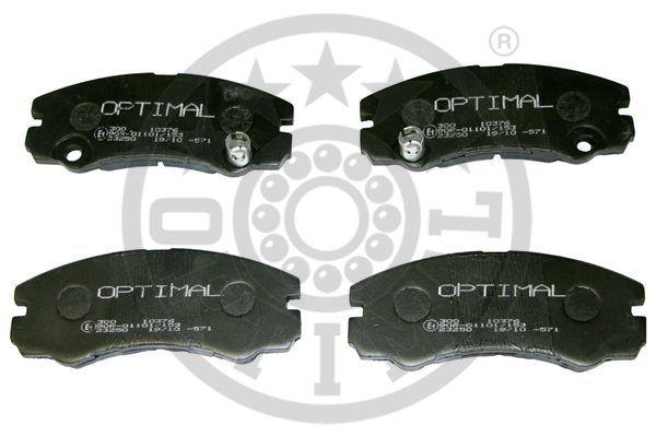 Kit de plaquettes de frein, frein à disque - OPTIMAL - 10376