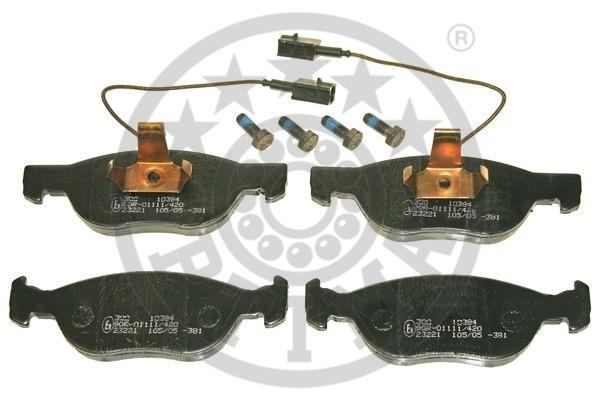 Kit de plaquettes de frein, frein à disque - OPTIMAL - 10384