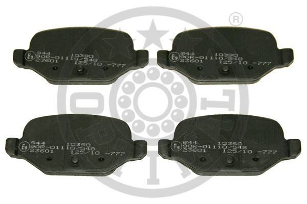 Kit de plaquettes de frein, frein à disque - OPTIMAL - 10390