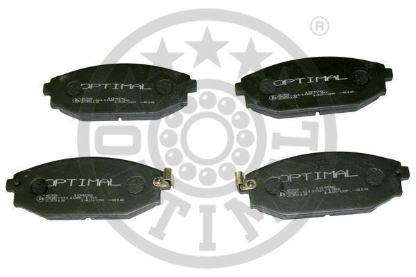 Kit de plaquettes de frein, frein à disque - OPTIMAL - 10406