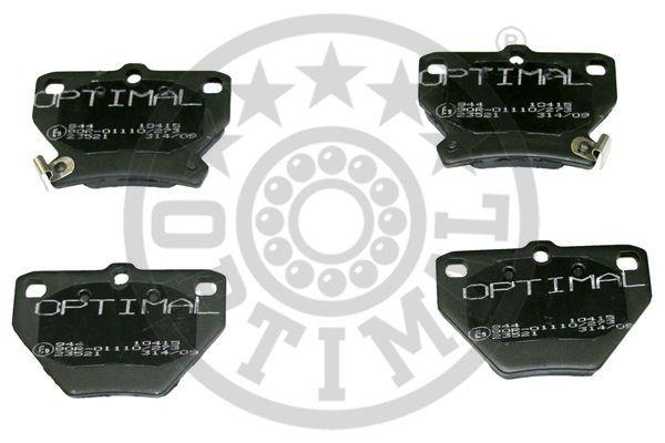 Kit de plaquettes de frein, frein à disque - OPTIMAL - 10415