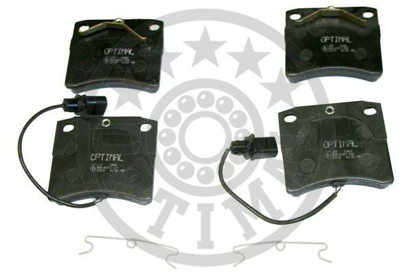 Kit de plaquettes de frein, frein à disque - OPTIMAL - 10482