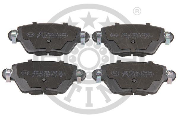 Kit de plaquettes de frein, frein à disque - OPTIMAL - 10494