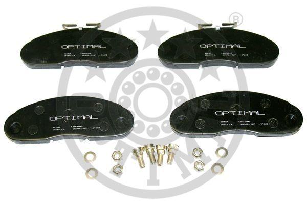 Kit de plaquettes de frein, frein à disque - OPTIMAL - 12006
