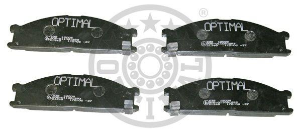 Kit de plaquettes de frein, frein à disque - OPTIMAL - 12008