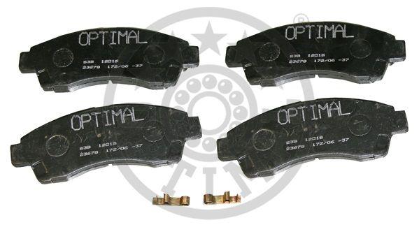 Kit de plaquettes de frein, frein à disque - OPTIMAL - 12016