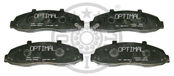Kit de plaquettes de frein, frein à disque - OPTIMAL - 12021
