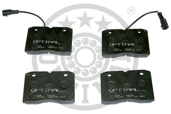 Kit de plaquettes de frein, frein à disque - OPTIMAL - 12022