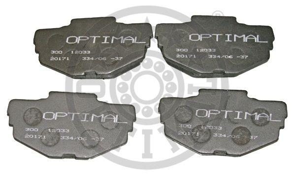 Kit de plaquettes de frein, frein à disque - OPTIMAL - 12033
