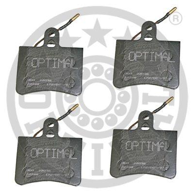 Kit de plaquettes de frein, frein à disque - OPTIMAL - 12036