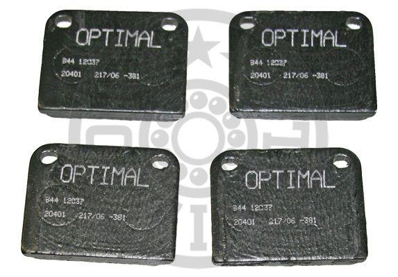 Kit de plaquettes de frein, frein à disque - OPTIMAL - 12037