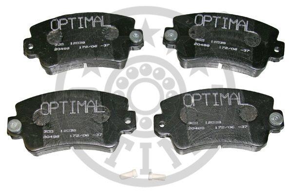 Kit de plaquettes de frein, frein à disque - OPTIMAL - 12038