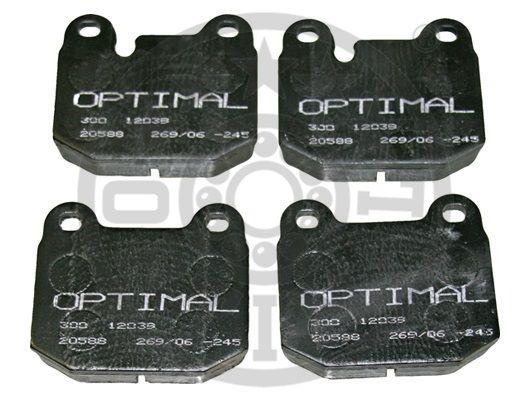 Kit de plaquettes de frein, frein à disque - OPTIMAL - 12039