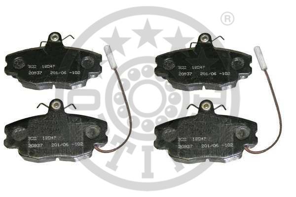 Kit de plaquettes de frein, frein à disque - OPTIMAL - 12047
