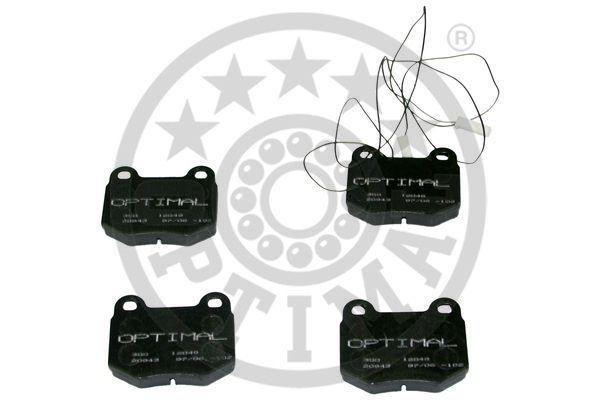 Kit de plaquettes de frein, frein à disque - OPTIMAL - 12048