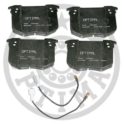 Kit de plaquettes de frein, frein à disque - OPTIMAL - 12049