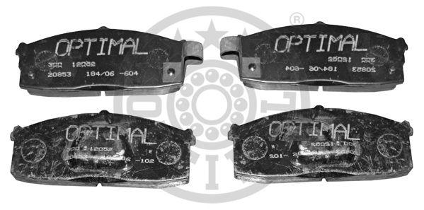 Kit de plaquettes de frein, frein à disque - OPTIMAL - 12052