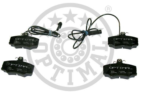 Kit de plaquettes de frein, frein à disque - OPTIMAL - 12056