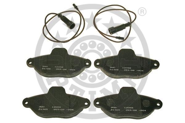 Kit de plaquettes de frein, frein à disque - OPTIMAL - 12058