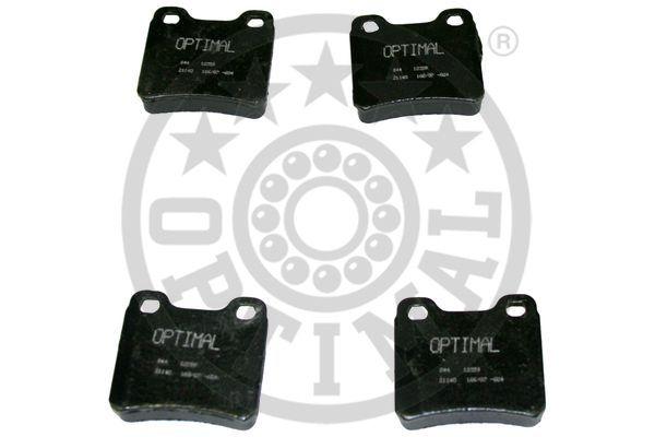 Kit de plaquettes de frein, frein à disque - OPTIMAL - 12059