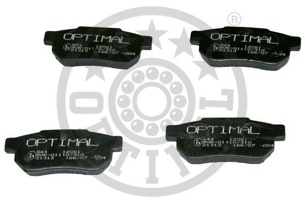 Kit de plaquettes de frein, frein à disque - OPTIMAL - 12061