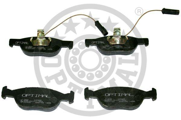 Kit de plaquettes de frein, frein à disque - OPTIMAL - 12069