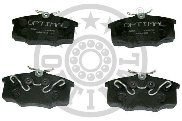 Kit de plaquettes de frein, frein à disque - OPTIMAL - 12070