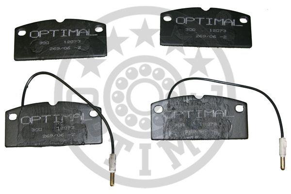 Kit de plaquettes de frein, frein à disque - OPTIMAL - 12073