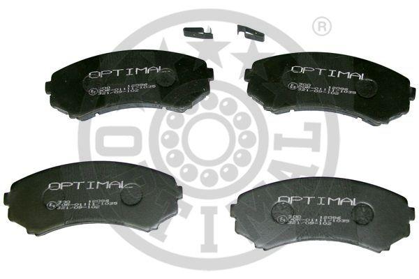 Kit de plaquettes de frein, frein à disque - OPTIMAL - 12086
