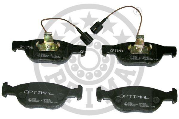 Kit de plaquettes de frein, frein à disque - OPTIMAL - 12087