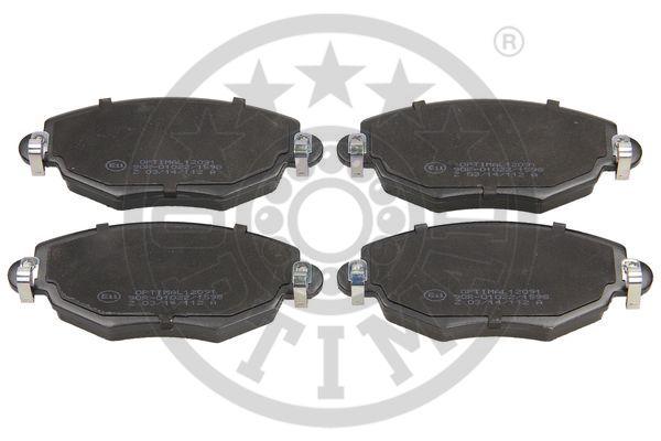 Kit de plaquettes de frein, frein à disque - OPTIMAL - 12091