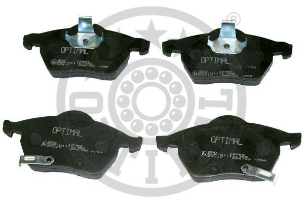 Kit de plaquettes de frein, frein à disque - OPTIMAL - 12092