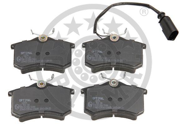 Kit de plaquettes de frein, frein à disque - OPTIMAL - 12096