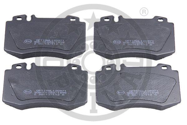 Kit de plaquettes de frein, frein à disque - OPTIMAL - 120971