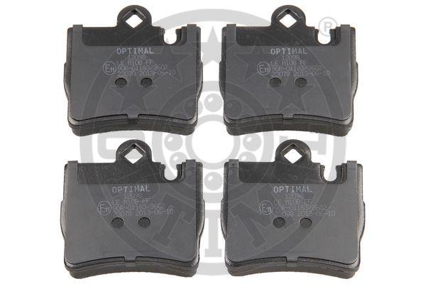 Kit de plaquettes de frein, frein à disque - OPTIMAL - 12098