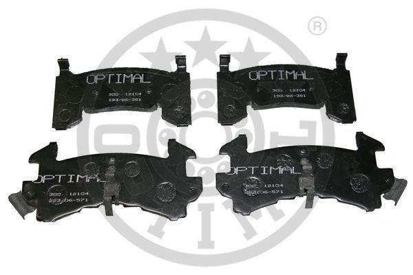 Kit de plaquettes de frein, frein à disque - OPTIMAL - 12104