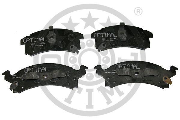 Kit de plaquettes de frein, frein à disque - OPTIMAL - 12106