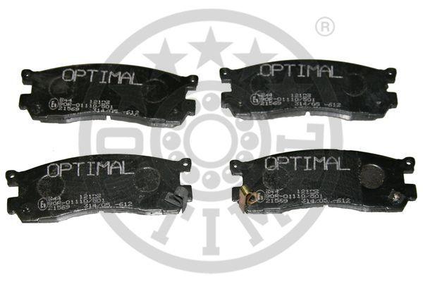 Kit de plaquettes de frein, frein à disque - OPTIMAL - 12109