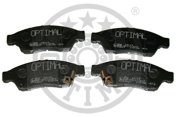 Kit de plaquettes de frein, frein à disque - OPTIMAL - 12113