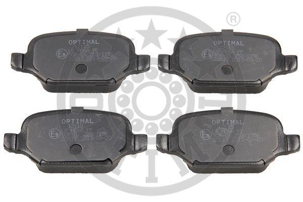 Kit de plaquettes de frein, frein à disque - OPTIMAL - 12115