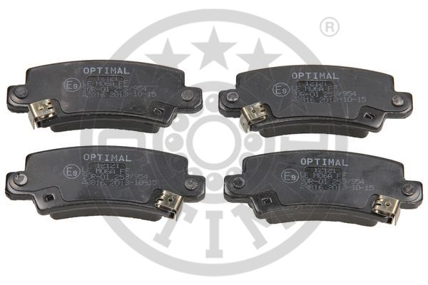 Kit de plaquettes de frein, frein à disque - OPTIMAL - 12121