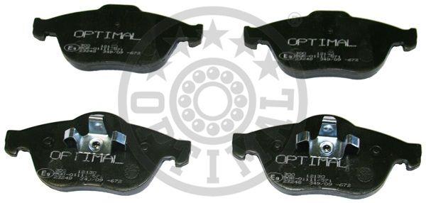 Kit de plaquettes de frein, frein à disque - OPTIMAL - 12130