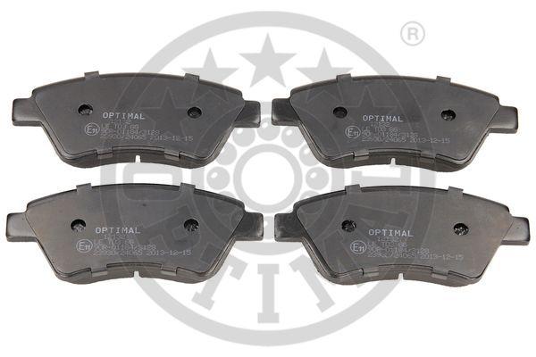 Kit de plaquettes de frein, frein à disque - OPTIMAL - 12132